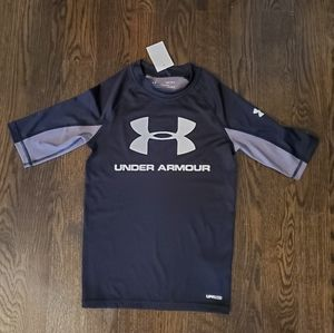 NWT Under Armour Black Fitted HeatGear Top